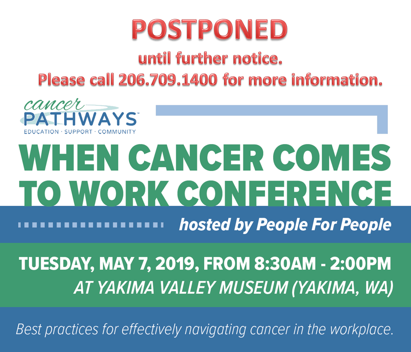 When Cancer Comes to Work Yakima Conference Postponed Until Further Notice.